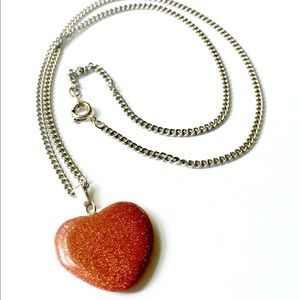 SANDSTONE Heart Necklace Vintage